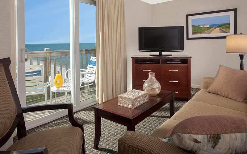 Loft Suite 232 - Ocean Front - Two Bedrooms With Sleeper Sofa, Kitchenette (850 Sq Ft) in Ocean Mist Beach Hotel & Suites, South Yarmouth
